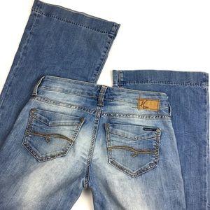 "MAVI Wide Leg Flare Jeans in RARE Tall Long 34"" in"
